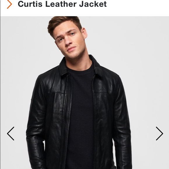 Nwt Superdry Curtis Leather Jacket Nwt